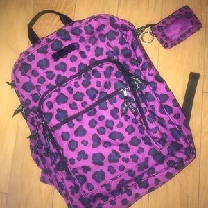 Vera Bradley Campus Backpack/ID Wallet Set